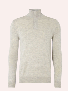 MEN'S HIGH NECK 16 GAUGE SUPER FINE WOOL PULLOVER